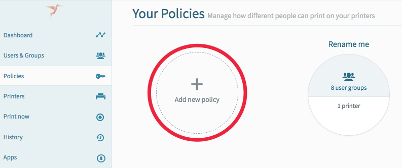 screenshot: add a new policy
