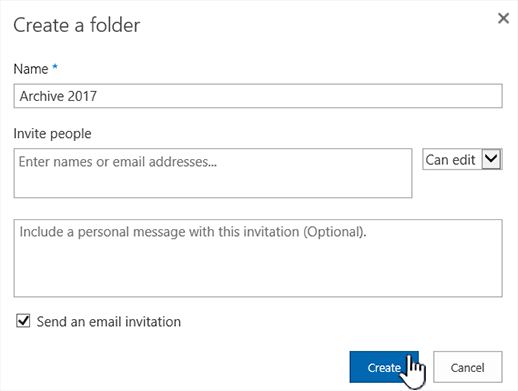 SharePoint Online classic mode share dialog