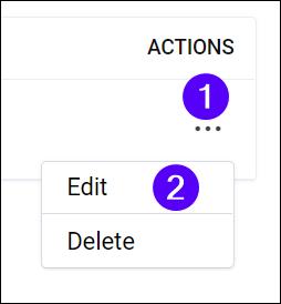 Users action menu - edit