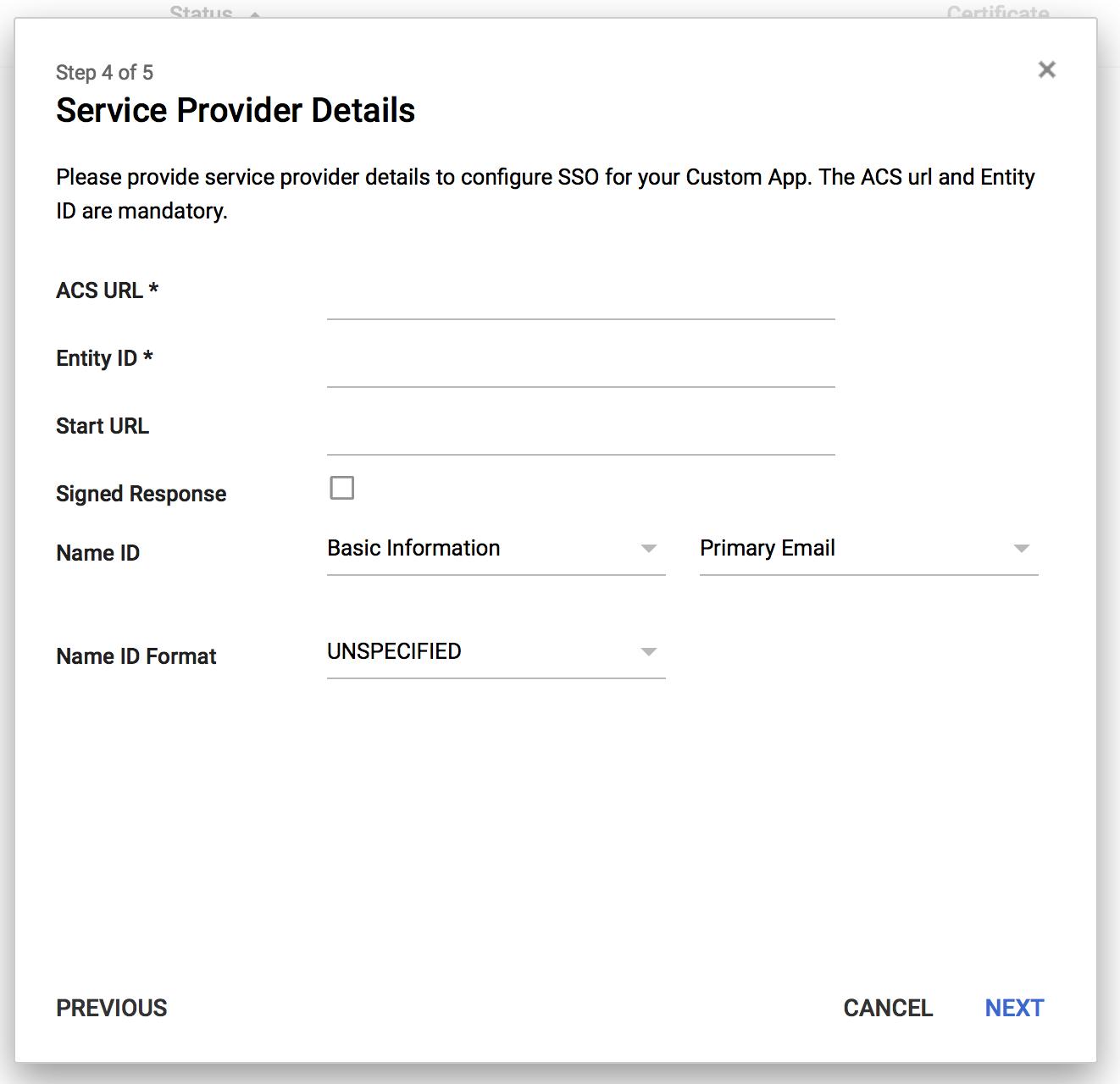 screenshot: Service Provider Details