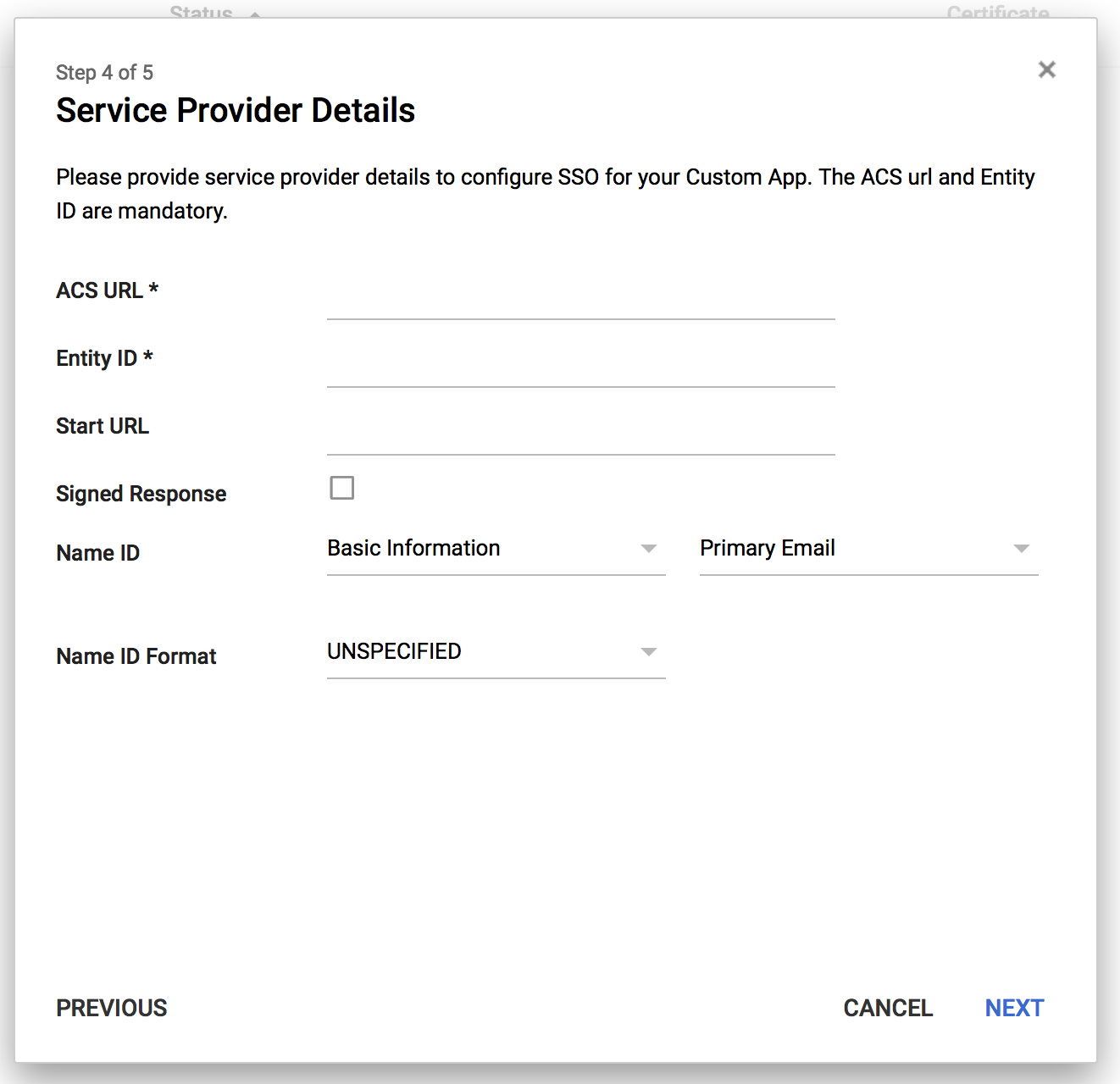 screenshot: enter your ezeep SSO details