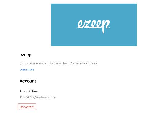 screenshot: andcards ezeep integration status