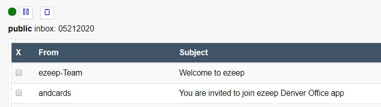 screenshot: ezeep invitation email