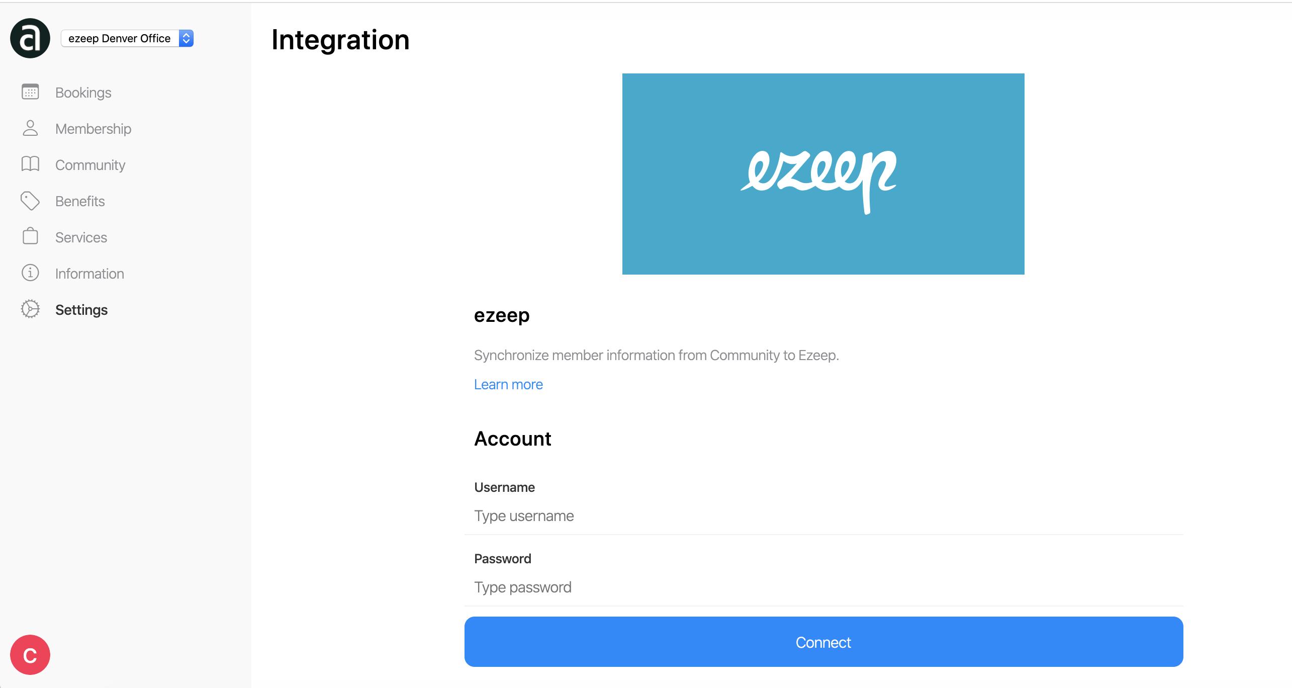 screenshot: andcards ezeep integration