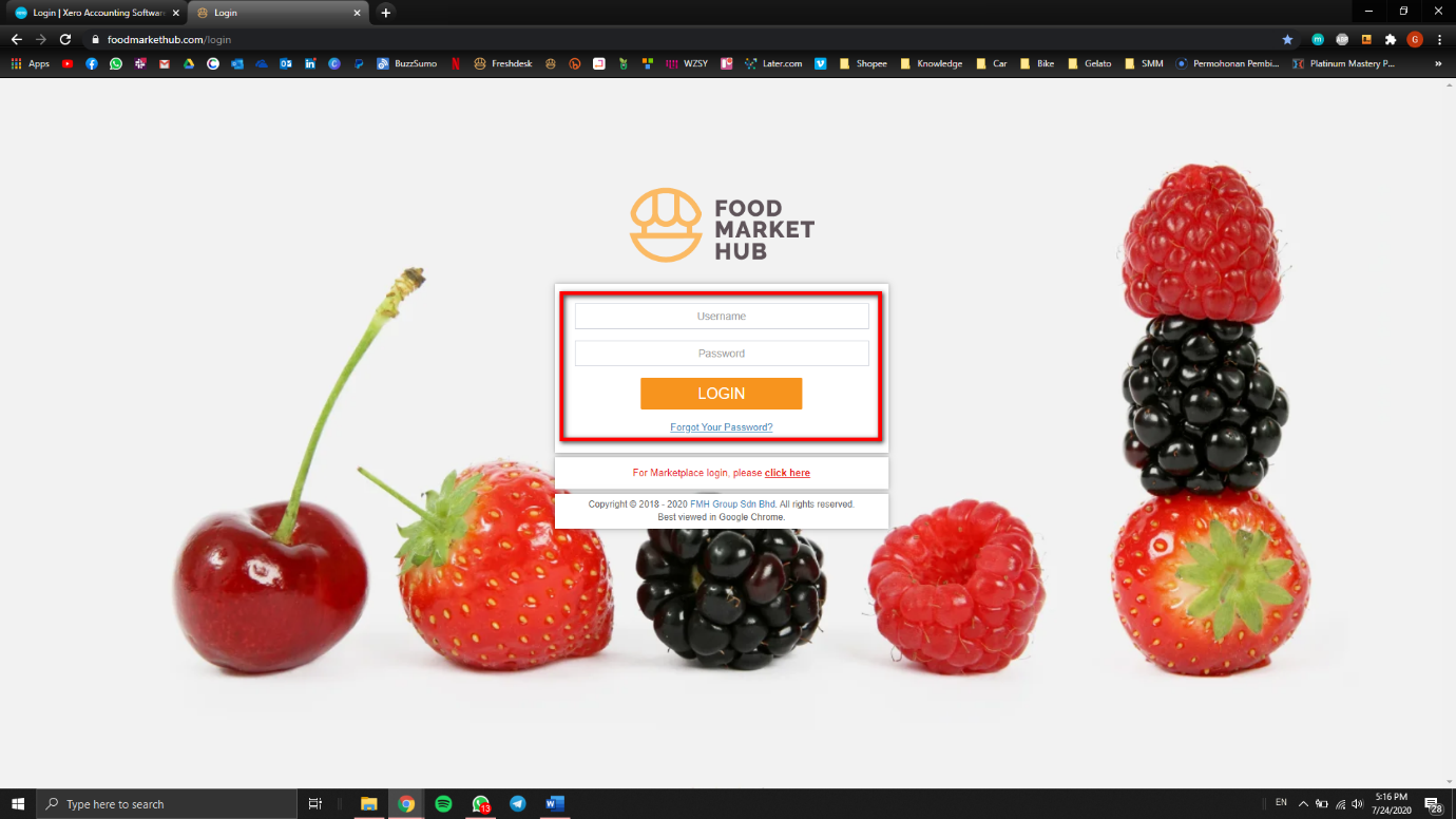 A screenshot of fruit and vegetables on display  Description automatically generated