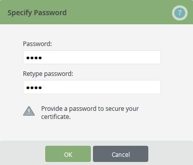 Zertifikatpasswort vergeben