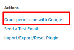 Grant Permissions with Google