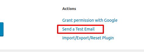 Test Email Post SMTP WordPress