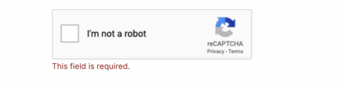 Validation error on reCAPTCHA in WPForms