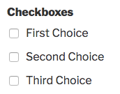 Checkboxes field