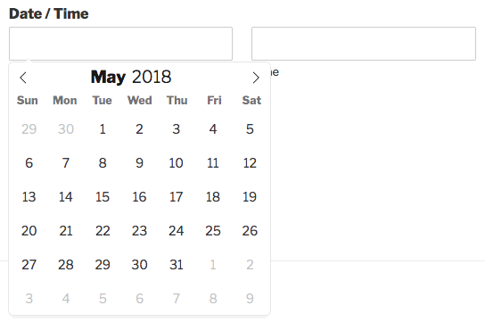 Using the Date Time field in WPForms