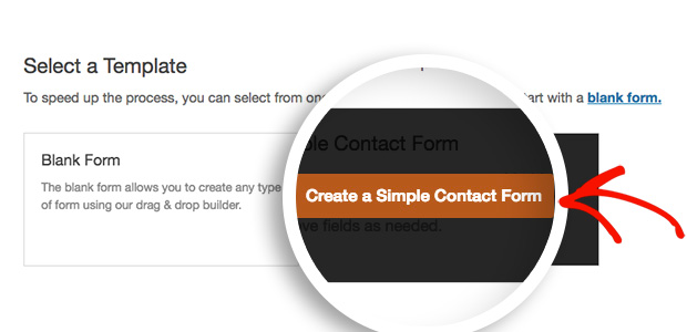 select form template
