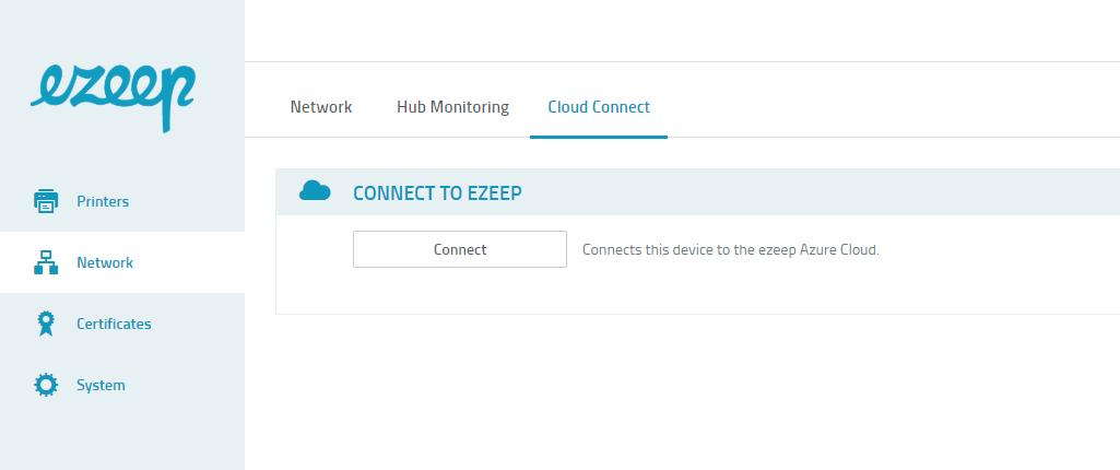 screenshot: connect to ezeep