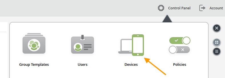 Devices auswählen