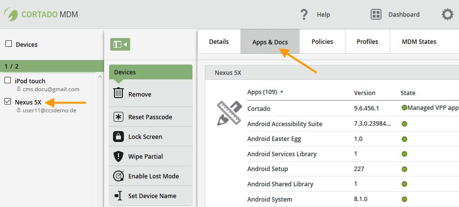 auf einem Android-Gerät installierte Anwendungen