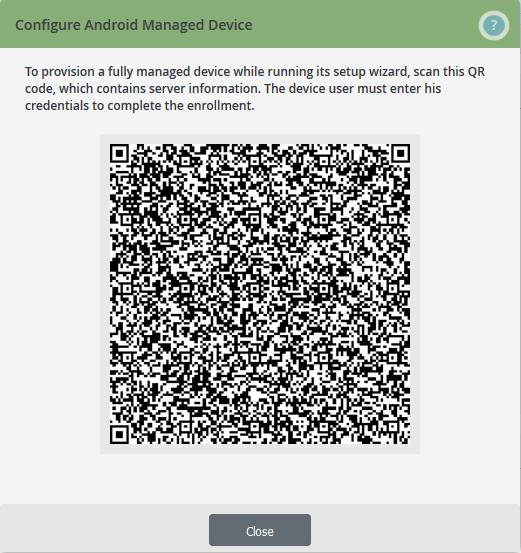 QR-Code zur Konfiguration des Nutzer-Gerätes