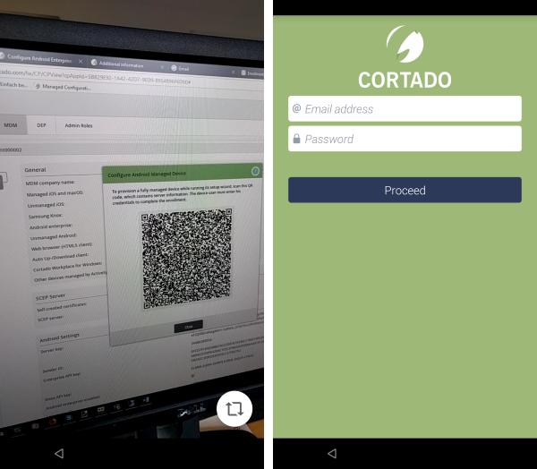 QR-Code scannen, Nutzer kann sich anschließend anmelden