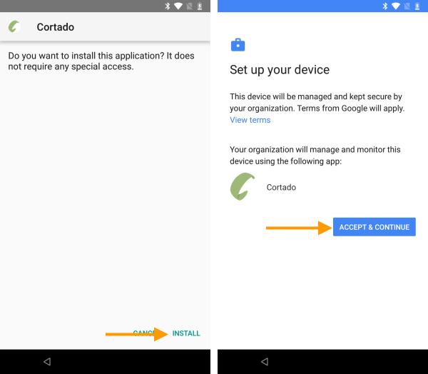 Konfiguration von Android Enterprise starten