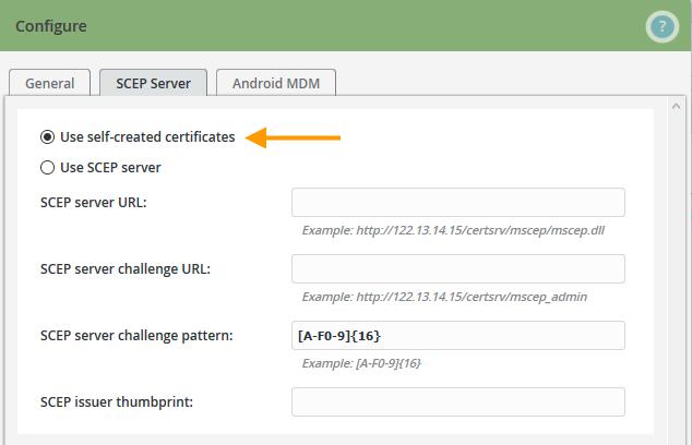using self-generated certificates
