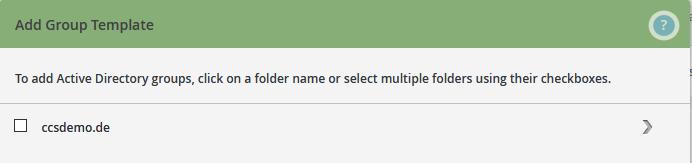 Active Directory/s wählen