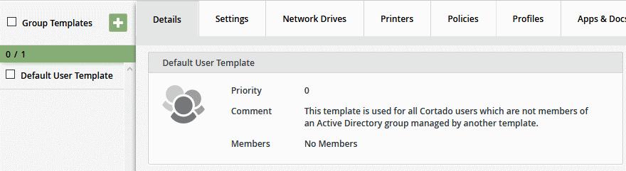 Default User Template