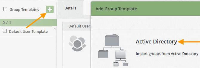 Group management: adding templates