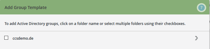 Group management: select active directories