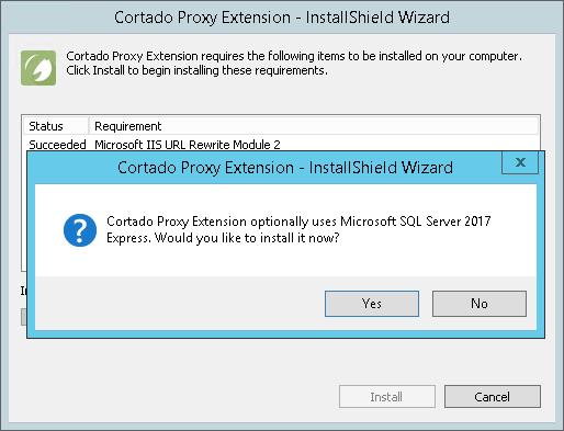 Optional: Installation eines lokalen SQL-Servers