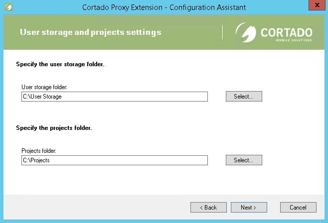 Ggf. Pfad zum User storage und zum Projects folder ändern