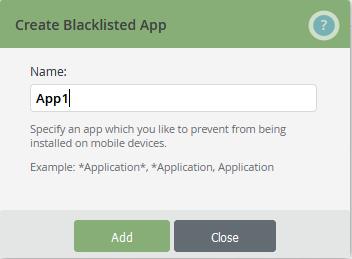 enter app name