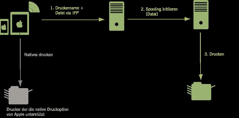 Natives iOS-Drucken zu einem Netzwerkdrucker