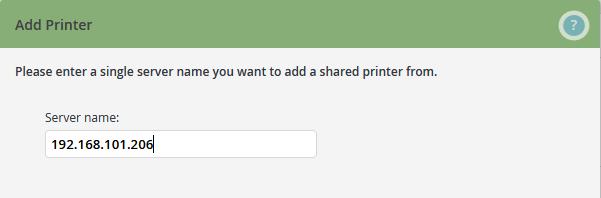 Servername des Druckservers eingeben