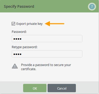 Root-Zertifikat mit privatem Schlüssel exportieren
