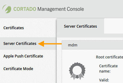 Select Server Certificates under Control Panel→ Certificates