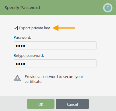export root certificate with private key