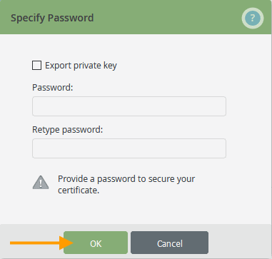export root certificate without private key