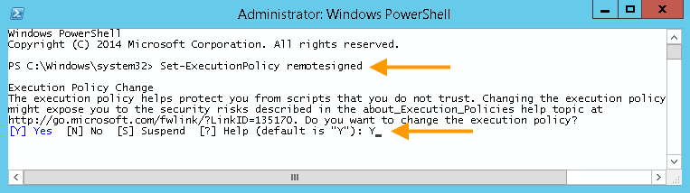 Set PowerShell rights one-time