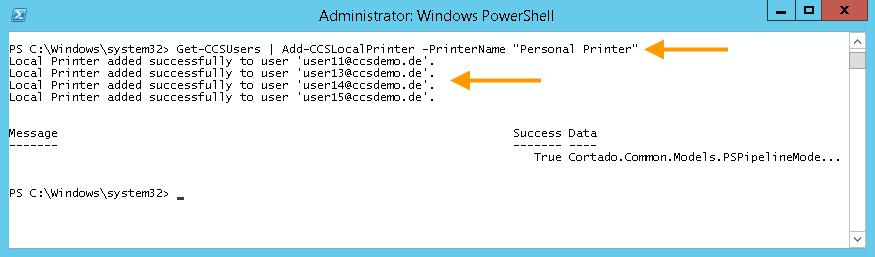 """Allen Nutzern einen lokal auf dem Cortado-Server angelegten Drucker (""""Personal Printer"""") zuweisen"""