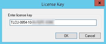 Entering a license key