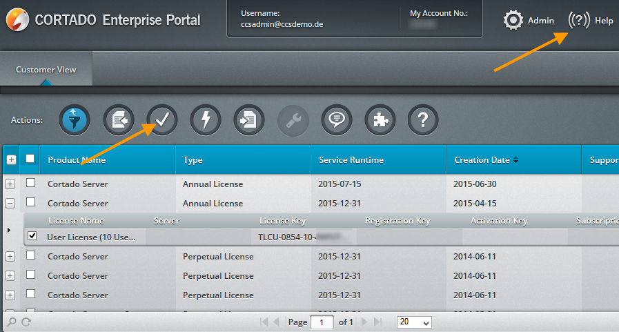Cortado Enterprise Portal – Produktivlizenz aktivieren