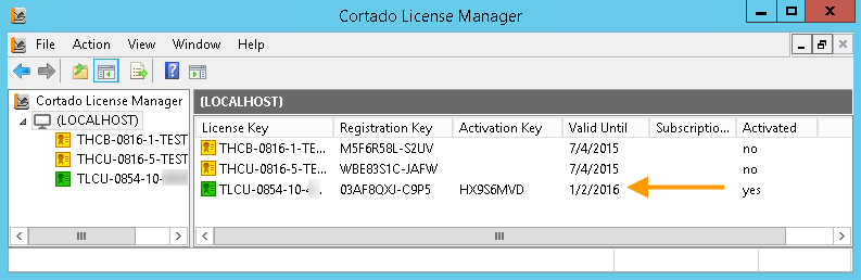 Productive license activated