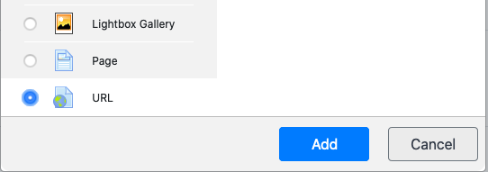 Add a URL resource