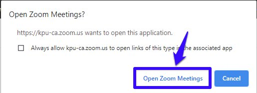 Open Zoom meetings