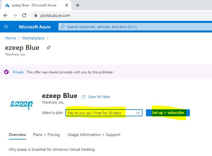 ezeep Blue in Azure
