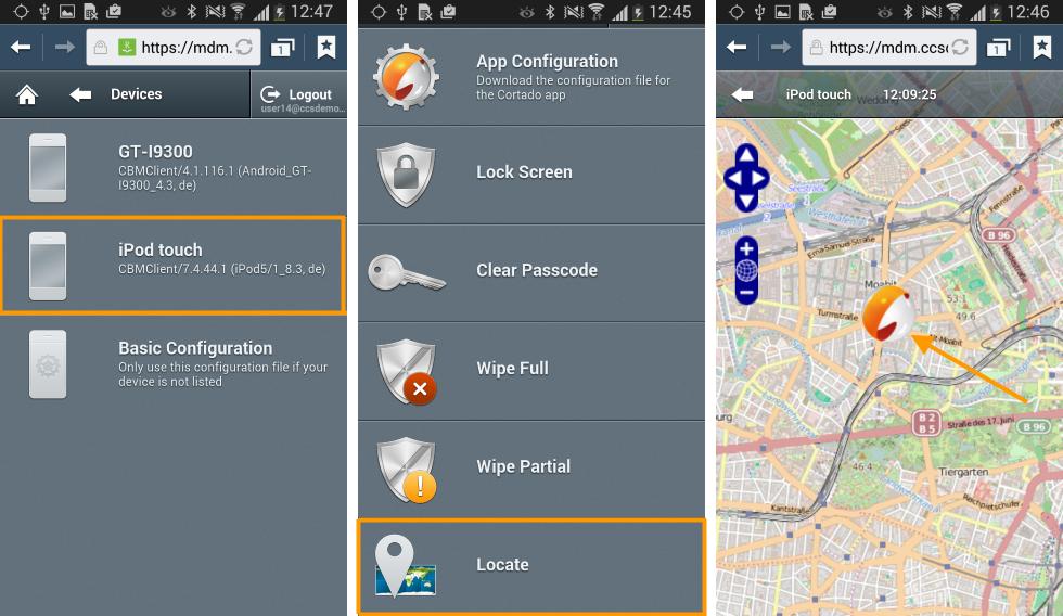 Locate Device: Vermisstes Gerät (Bsp.: iPod) mit Hilfe eines anderen Gerätes (Bsp.: Android) orten