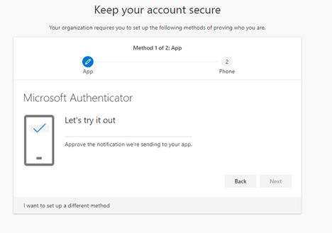 Microsoft Authenticator notification