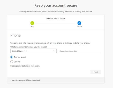 Microsoft Authenticator back-up phone