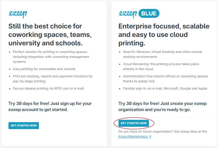 screenshot-Start Trial ezeep Blue