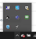 screenshot: ezeep icon in system tray