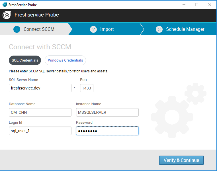 How to integrate SCCM with your Freshservice account : freshservice
